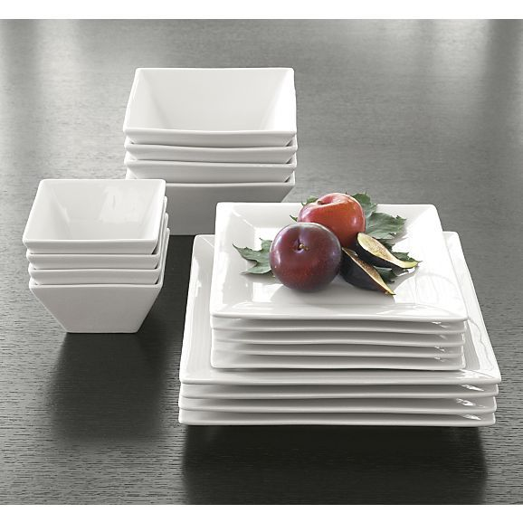 """Square Rim 10.25"""" Large Plate in Dinner Plates 
