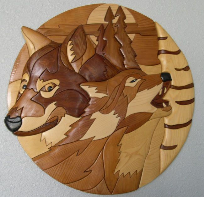 woodworking | wolves | Intarsia wood patterns, Intarsia ...