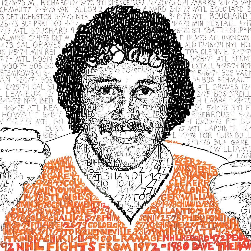 """Dave """"The Hammer"""" Schultz Word Art"""