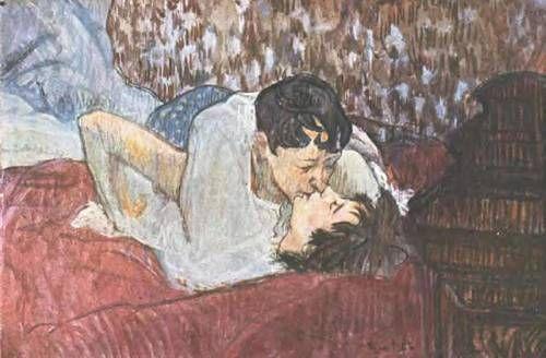 The Kiss 1892 By Henri Toulouse Lautrec Toulouse Lautrec