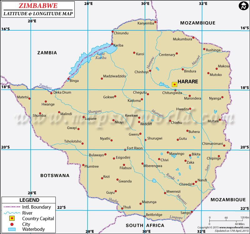 Zimbabwe Latitude and Longitude Map UNESCO Africa Pinterest