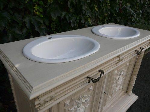 La Maison De Blancpatine Bricolage Salle De Bain Salle De Bain Meuble Toilette