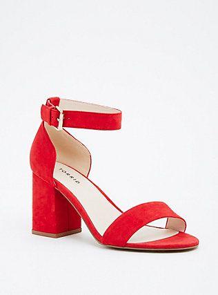 Single Strap Block Heels (Wide Width