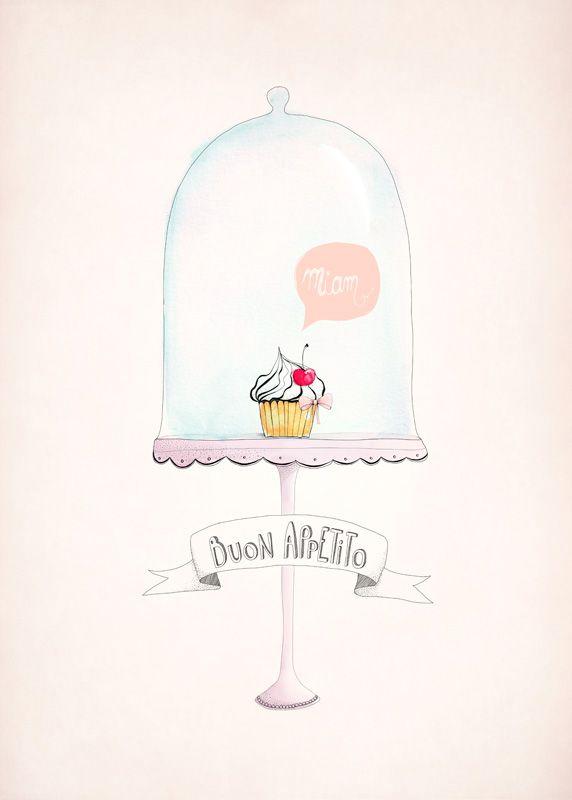Affiche Déco Cupcake - Déco Cuisine - Aline Caron | Affiches Et