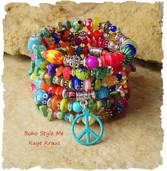 Joyería de bohemio colorida con cuentas Pulsera por BohoStyleMe