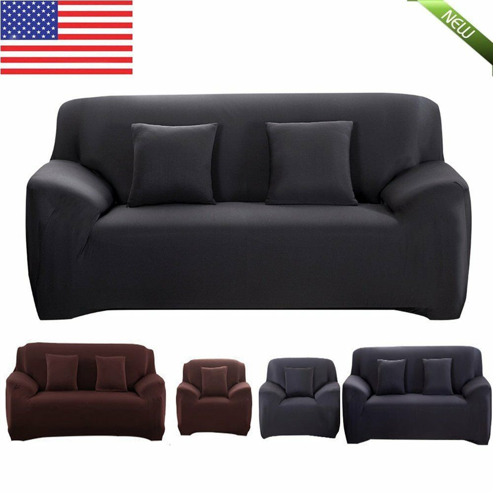 Stretch Sofa Cover 1 2 3 Seater Protector Couch Cover Full Cover Slipcover EO