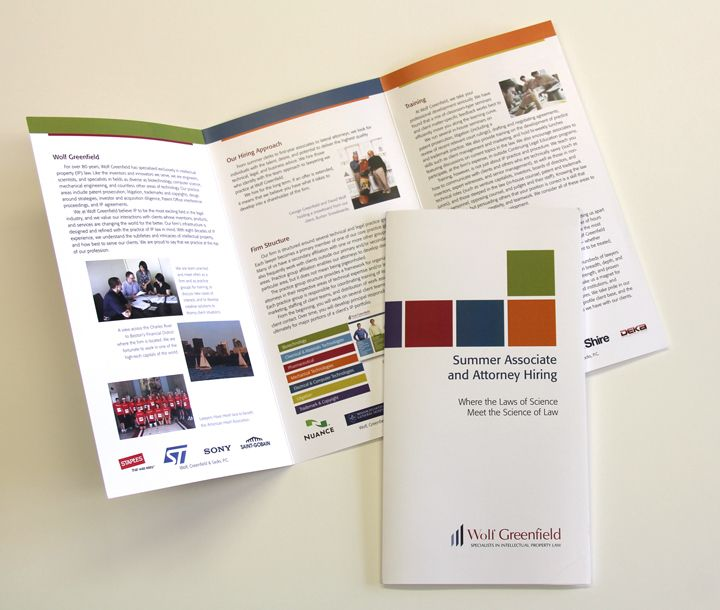 6 panel, 2 fold brochure for a Boston based law firm This - law firm brochure