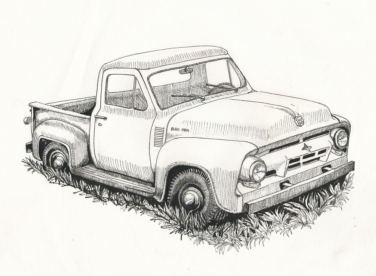 i saw this old ford pickup beside the road in west