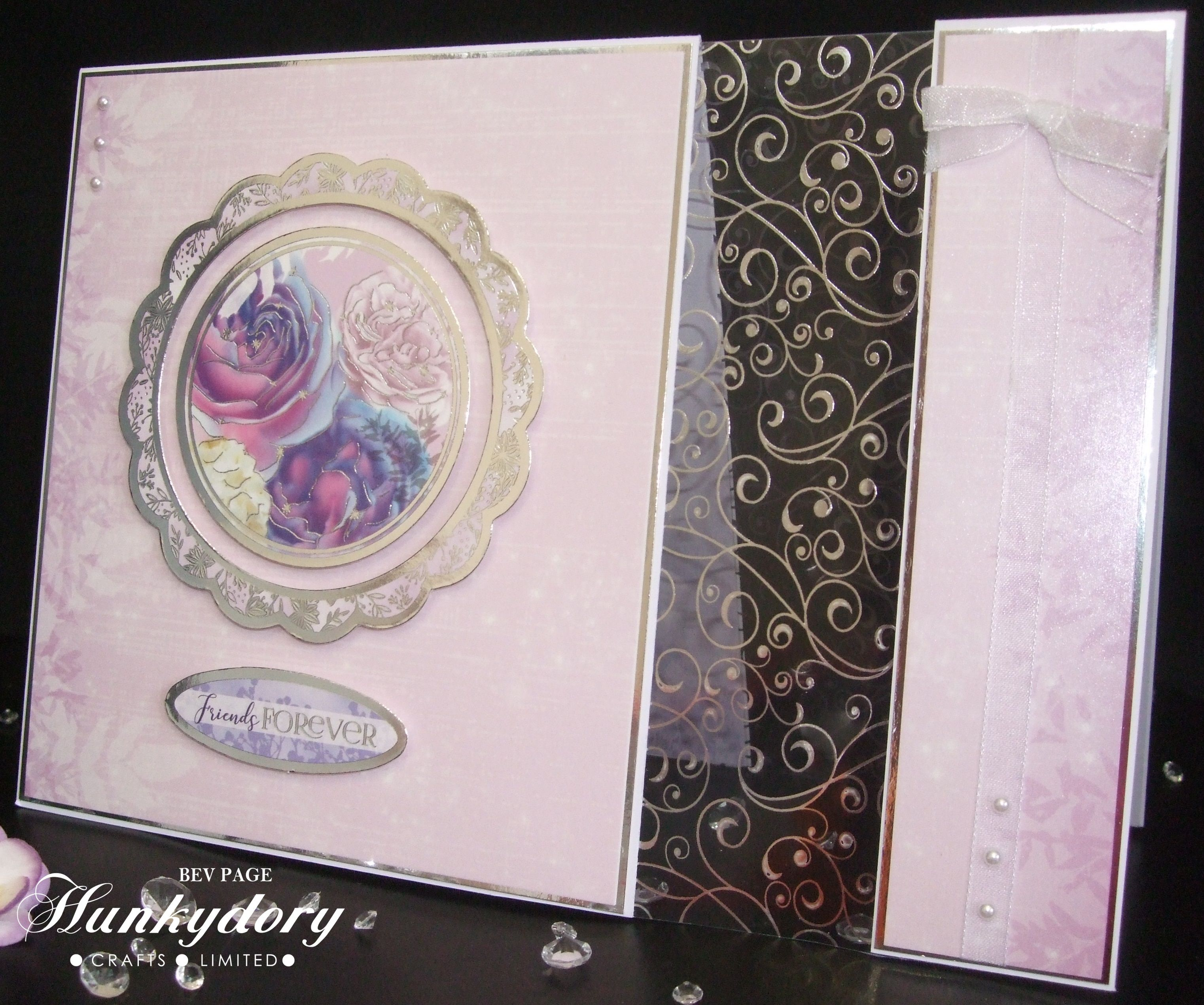 Acetate Panel Card Using Items From The Hunkydory Floral Shimmer