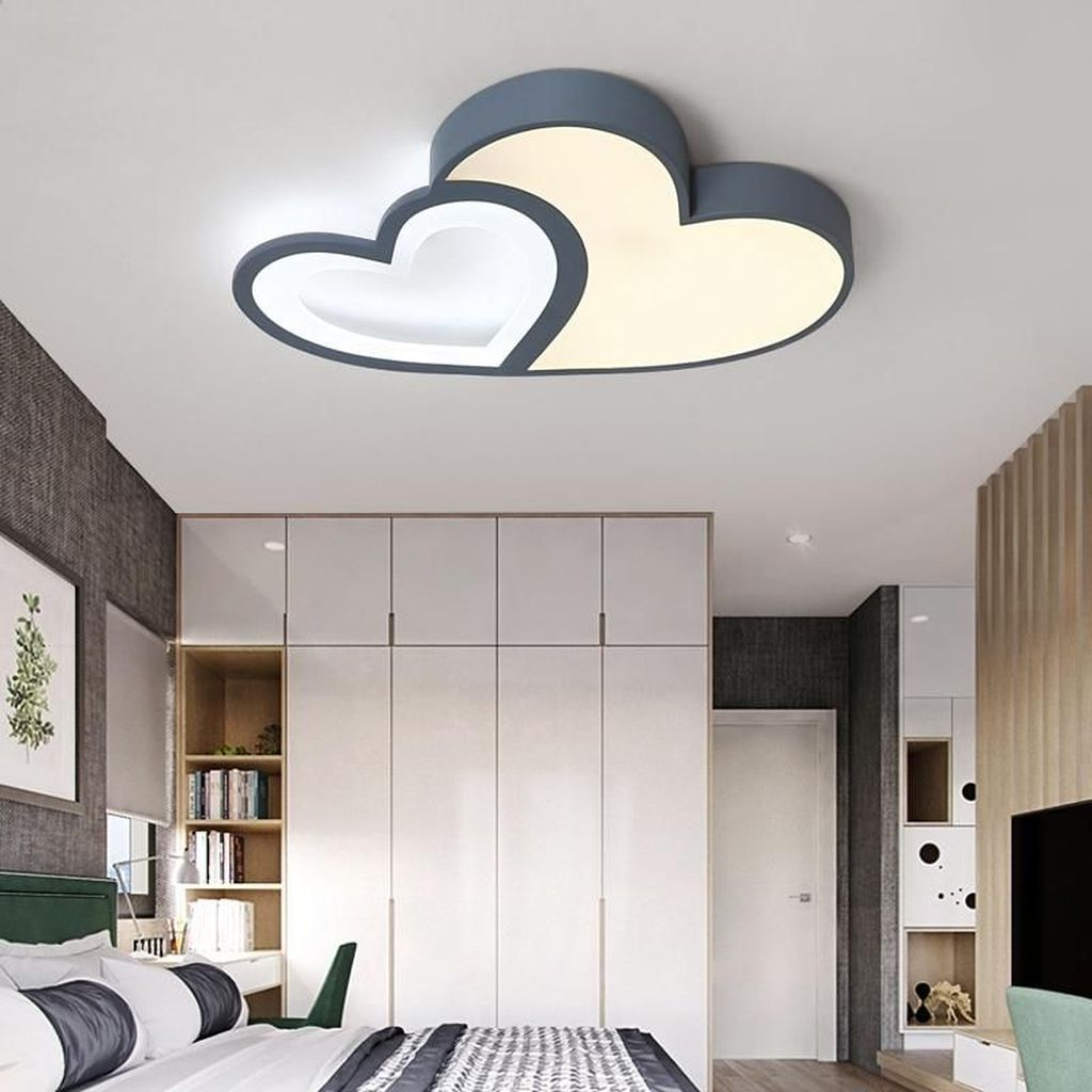 40 Affordable Ceiling Design Ideas With Decorative Lamp In 2020 Bedroom False Ceiling Design Ceiling Design Living Room Ceiling Design Bedroom