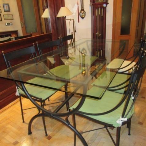 Mesa comedor/ forja y cristal. Casa y jardin en Madrid ...