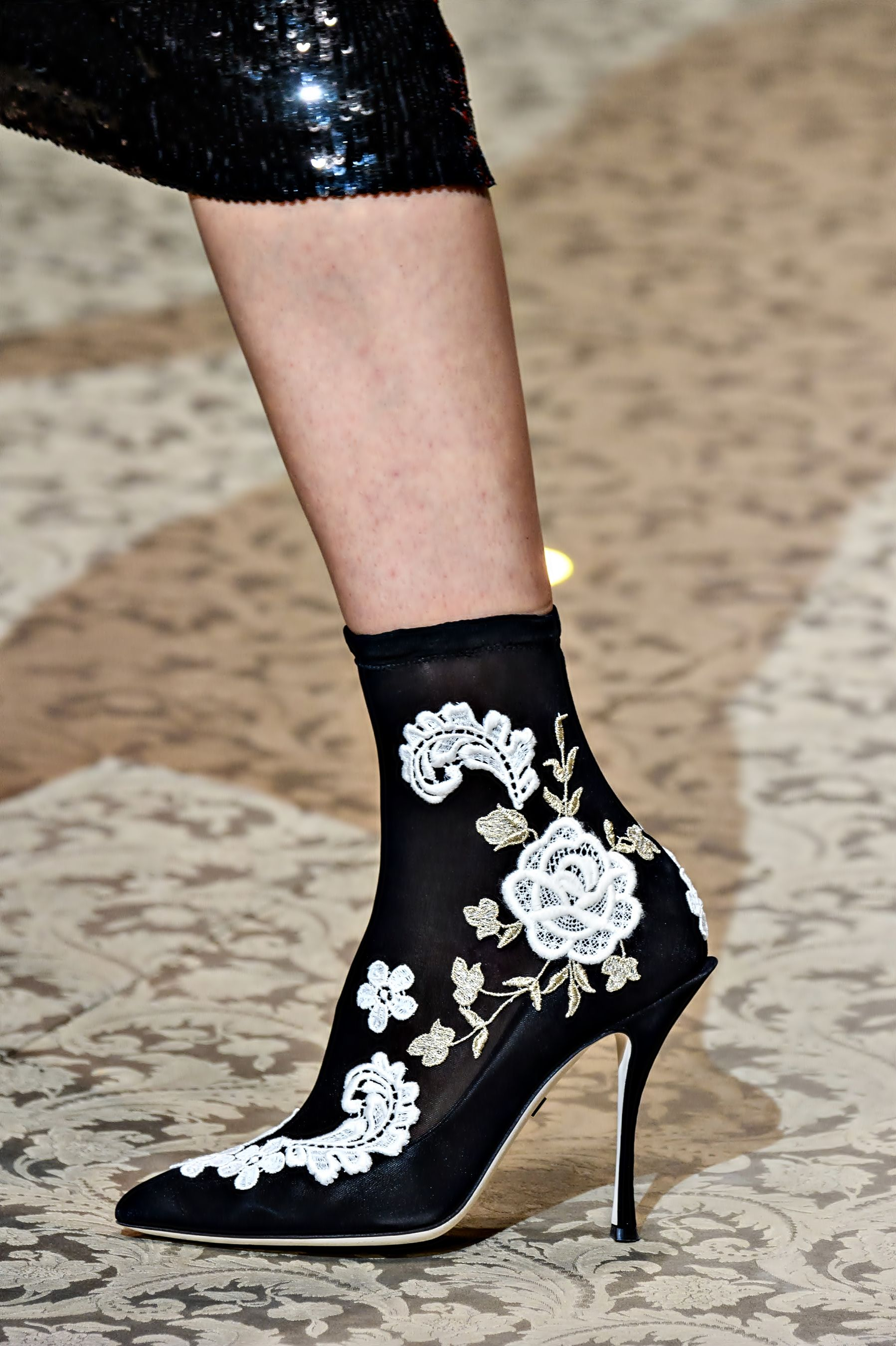 Bottes De Paillettes Jusqu'aux Genoux Dolce & Gabbana yUt9bZFr