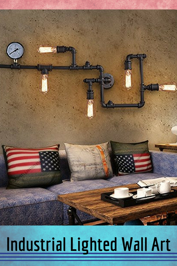 Sophisticated Warm And Rustic Industrial Wall Art Decor Home Wall Art Decor Industrial Wall Art Home Decor Loft Wall
