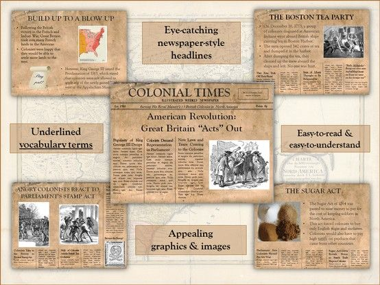 American revolution britain acts out powerpoint pinterest using an appealing newspaper style template complete with eye catching headlines this engaging powerpoint describes great britains legislative acts toneelgroepblik Images