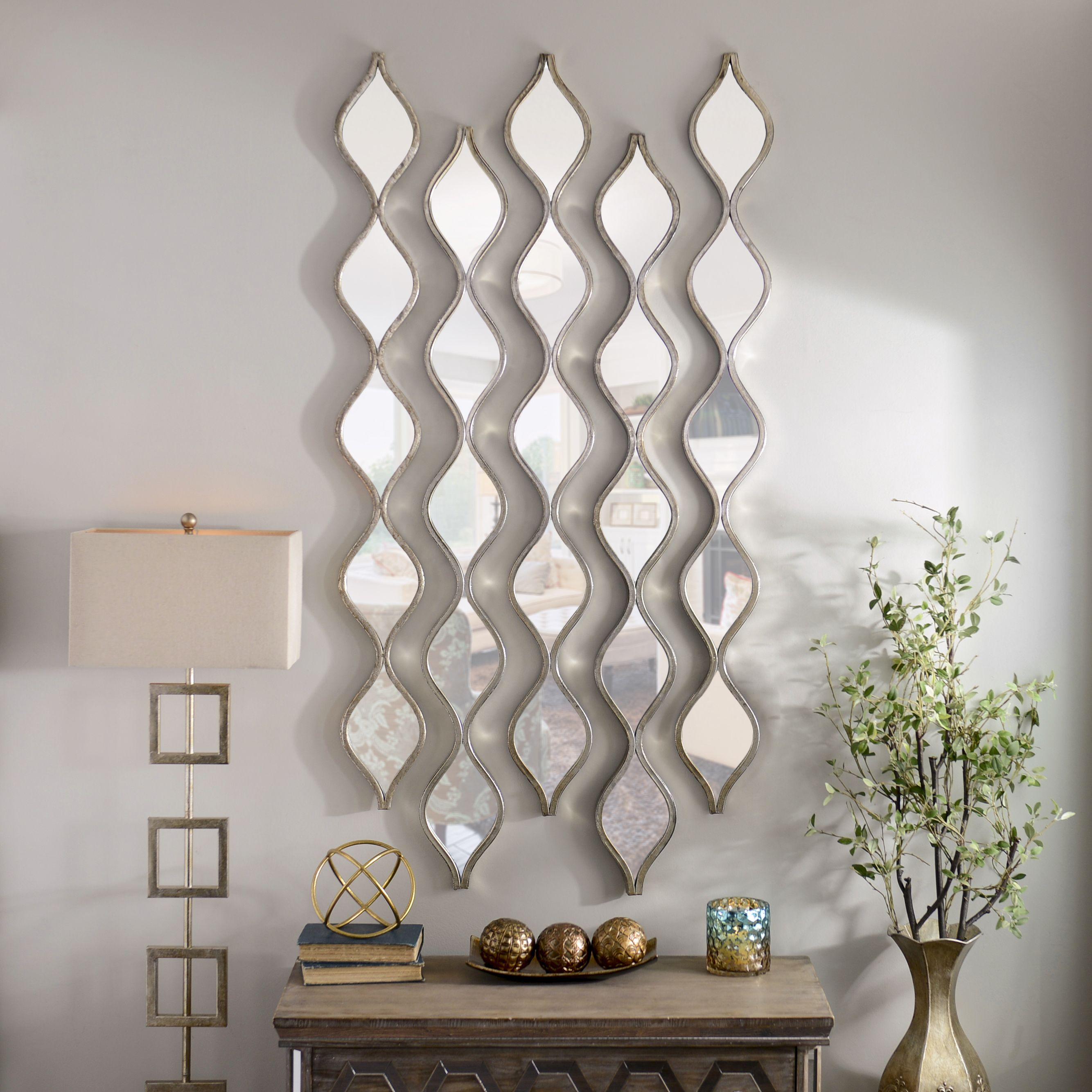 Bring The Perfect Combination Of Modern Chic And Old Hollywood Glamour To Your Home With Kirk Mirror Wall Living Room Mirror Design Wall Wall Decor Living Room