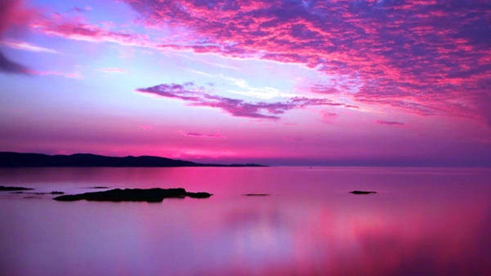 Res 1920x1080 Pink Sunsets Pink Sunset Wallpaper 82699 Sunset Wallpaper Beautiful Sunset Pictures Beach Sunset Wallpaper