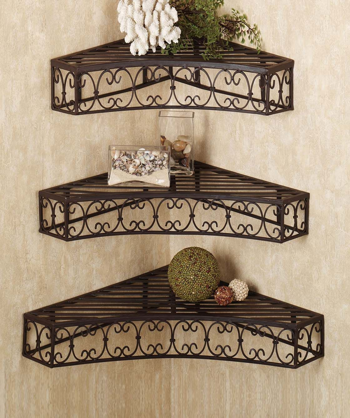fashionandyou.com brings to you a unique collection of shelves. Each piece reflects the artistic qualities and time one has taken to shape these appreciative decors. It's time you enlighten your dwelling with these creative pieces, it's time you indulge yourself with fashionandyou.com!CATEGORY: Wall Shelves (3 Pcs)COLOUR: BlackMATERIAL: IronDIMENSION: L x W x H- 19.5 x 13.5 x 2.5 inches L x W x H- 16 x 11.5 x 2.5 inches L x W x H- 12.5 x 8.5 x 2.5 inches PRODUCT CODE: mbdr21DELIVERY: We know…