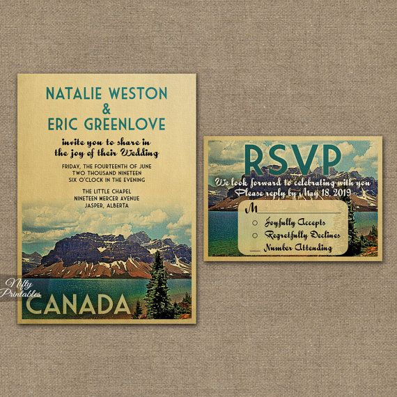 This Cool Original Vintage Wedding Invitation Features A Mid Century Vibe Wit Hawaii Wedding Invitations Park Wedding Invitations Printable Wedding Invitations