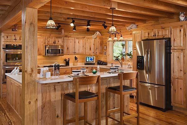Marshall Lakeside Log Home Honest Abe Log Homes Cabins Log Home Kitchens Log Cabin Kitchens Log Home Kitchen