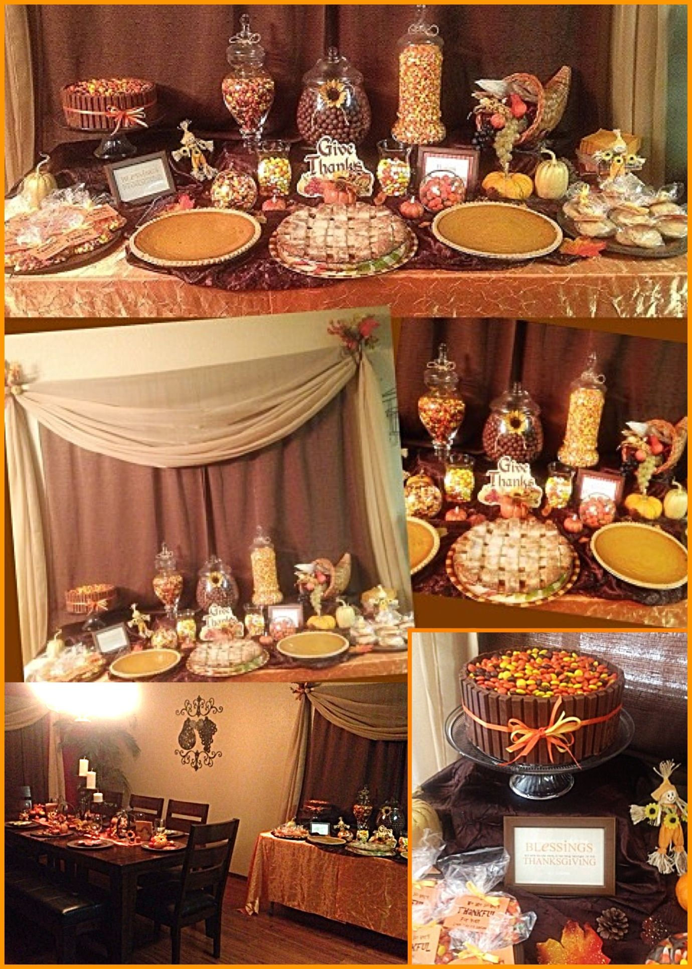 Fall Decor, thanksgiving table, candy buffet bar ...