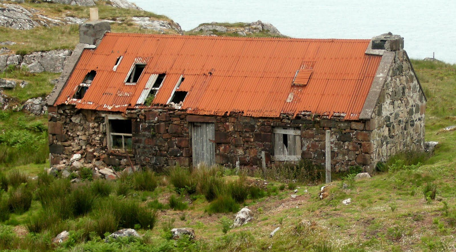 Derelict Crofters Cottage Isle Of Ramsay Dwellings