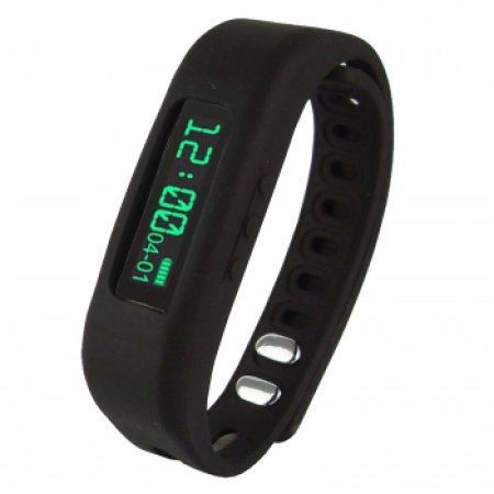 Supersonic 0.91 inch Fitness Wristband With Bluetooth Pedometer, Calorie Counter and More-Black, Multicolor