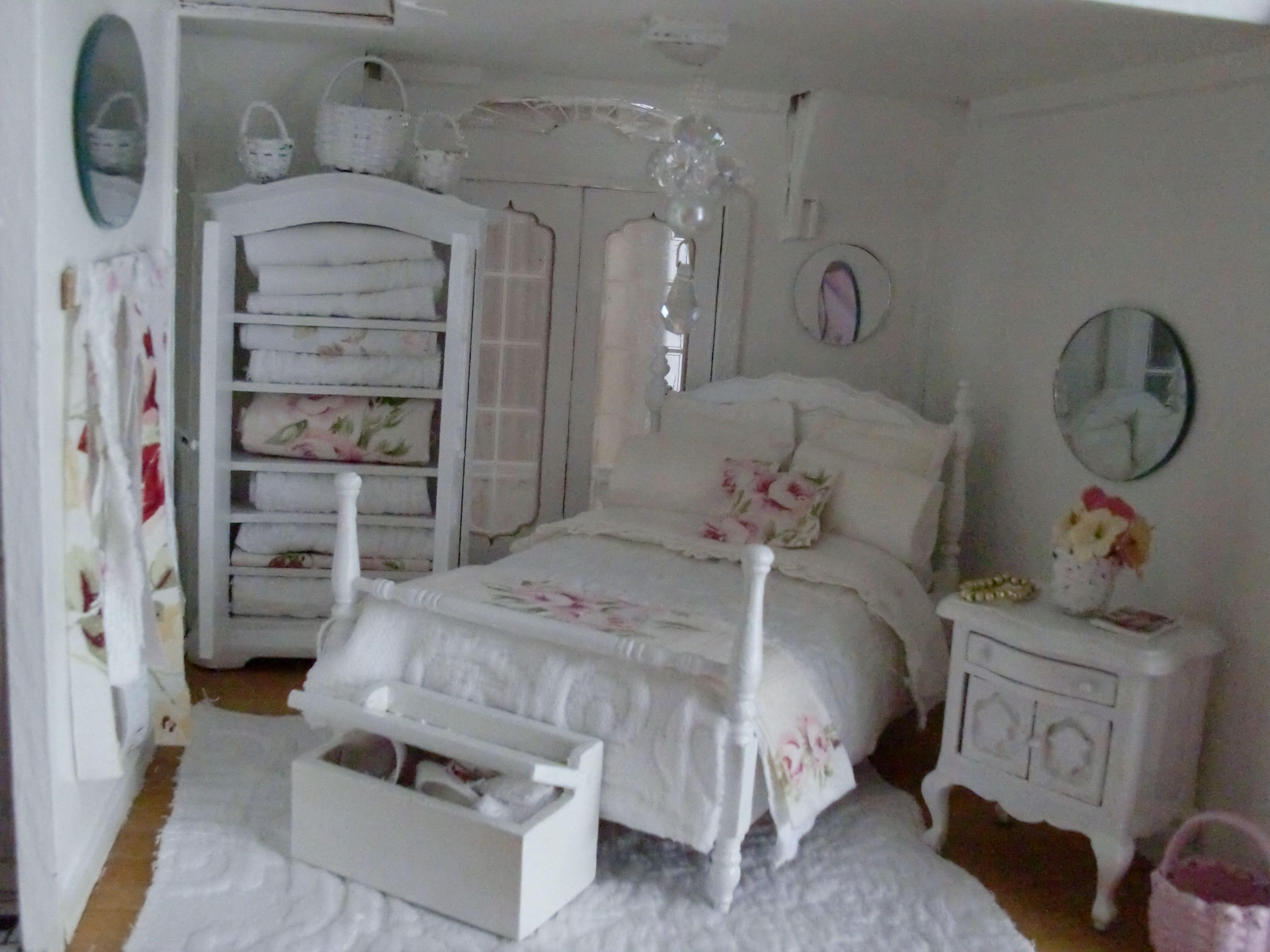 Miniature Dollhouse Bedroom Furniture Shabby Chic Dollhouse Pinterest Kreatives Pinterest Shabby