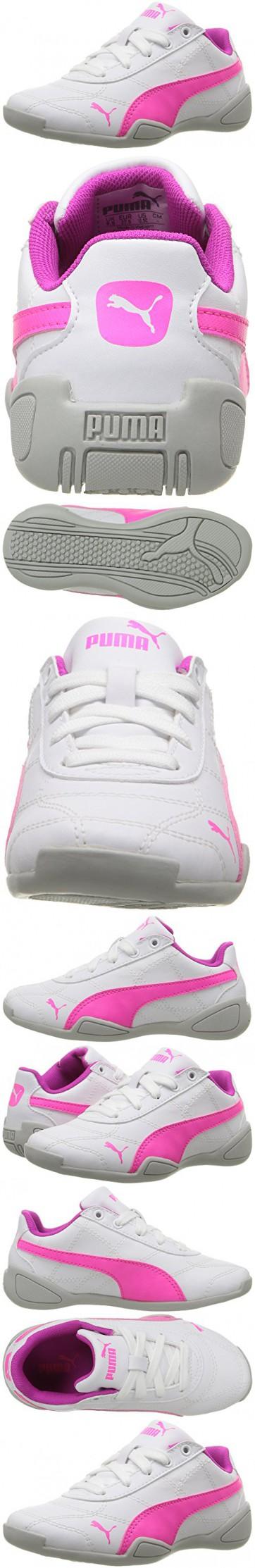 PUMA Tune Cat 3 Kids Sneaker (Little Kid), Puma White/Knockout Pink, 12.5 M US Little Kid