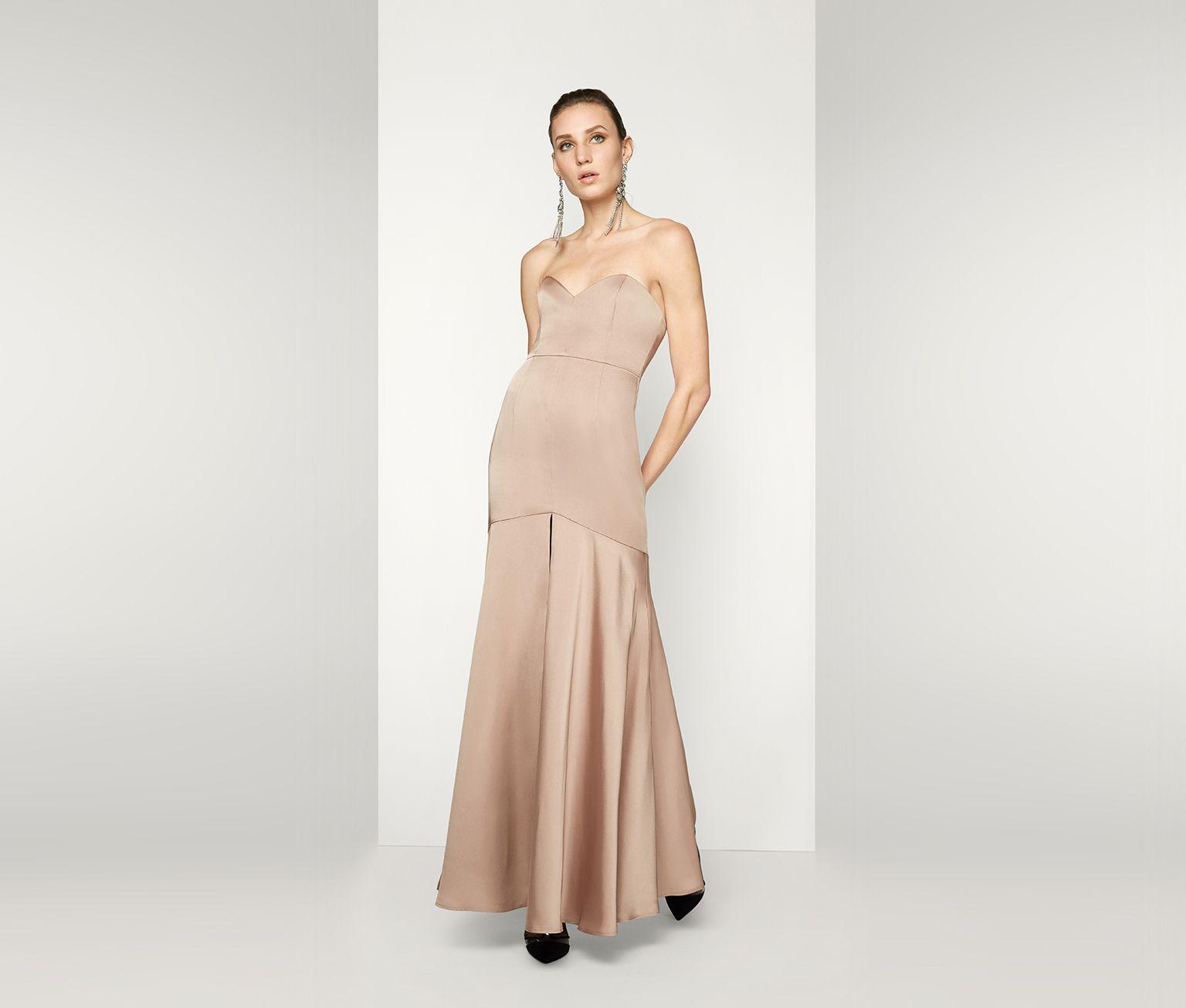 Dark Tan The Nebula Dress Fame Partners Usa Dresses Satin Evening Dresses Nebula Dress [ 1306 x 1536 Pixel ]