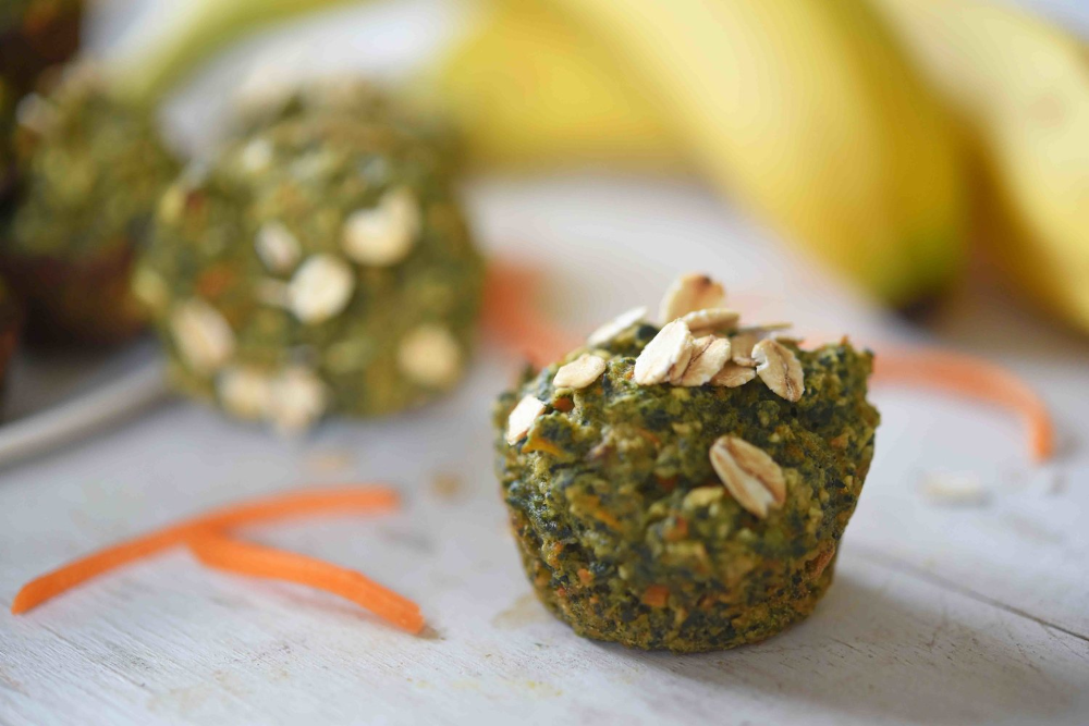 Banana Carrot Spinach Oat Muffins — Nikki Dinki Cooking