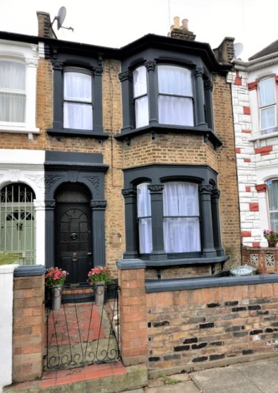Dark Windows Victorian House Edwardian London Paint For