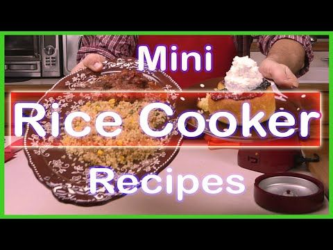 (5) Quick and Easy Homemade Meatloaf, Cake, Brown Rice and Vegetables in a Wolfgang Puck Rice Cooker - YouTube #ricecookermeals