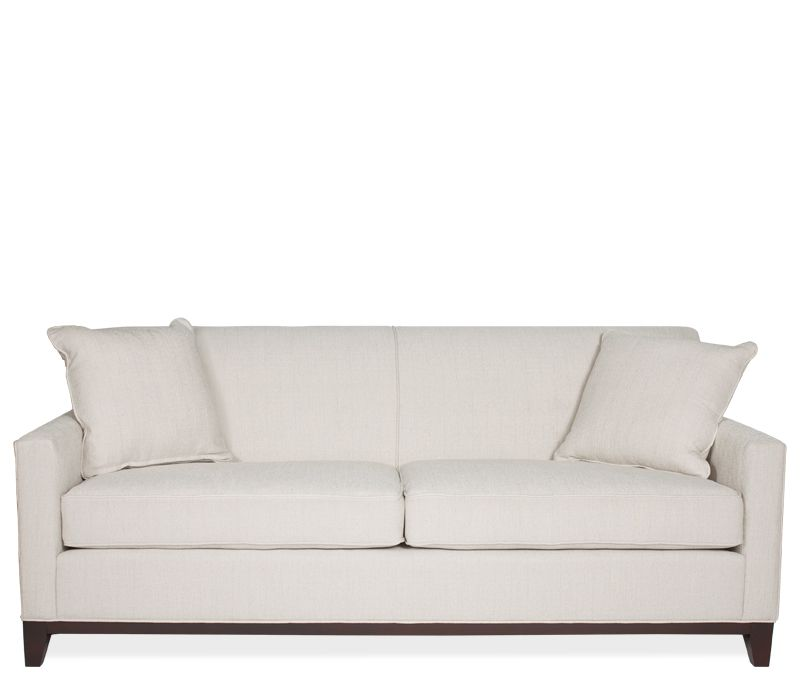Nice Boston Interiors Bailey Sofa Stocked In An Ivory Fabric With Espresso  Finish Legs And Wood Base