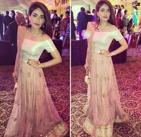 4cdb6656f2 Off shoulder lehenga | Desi | Desi clothes, Indian attire, Pakistani ...