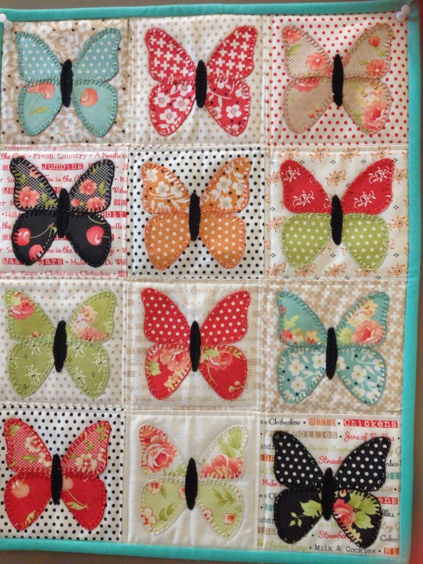 Little Butterflies Applique Quilt Pattern /& Stencil ~ Edyta Sitar Laundry Basket
