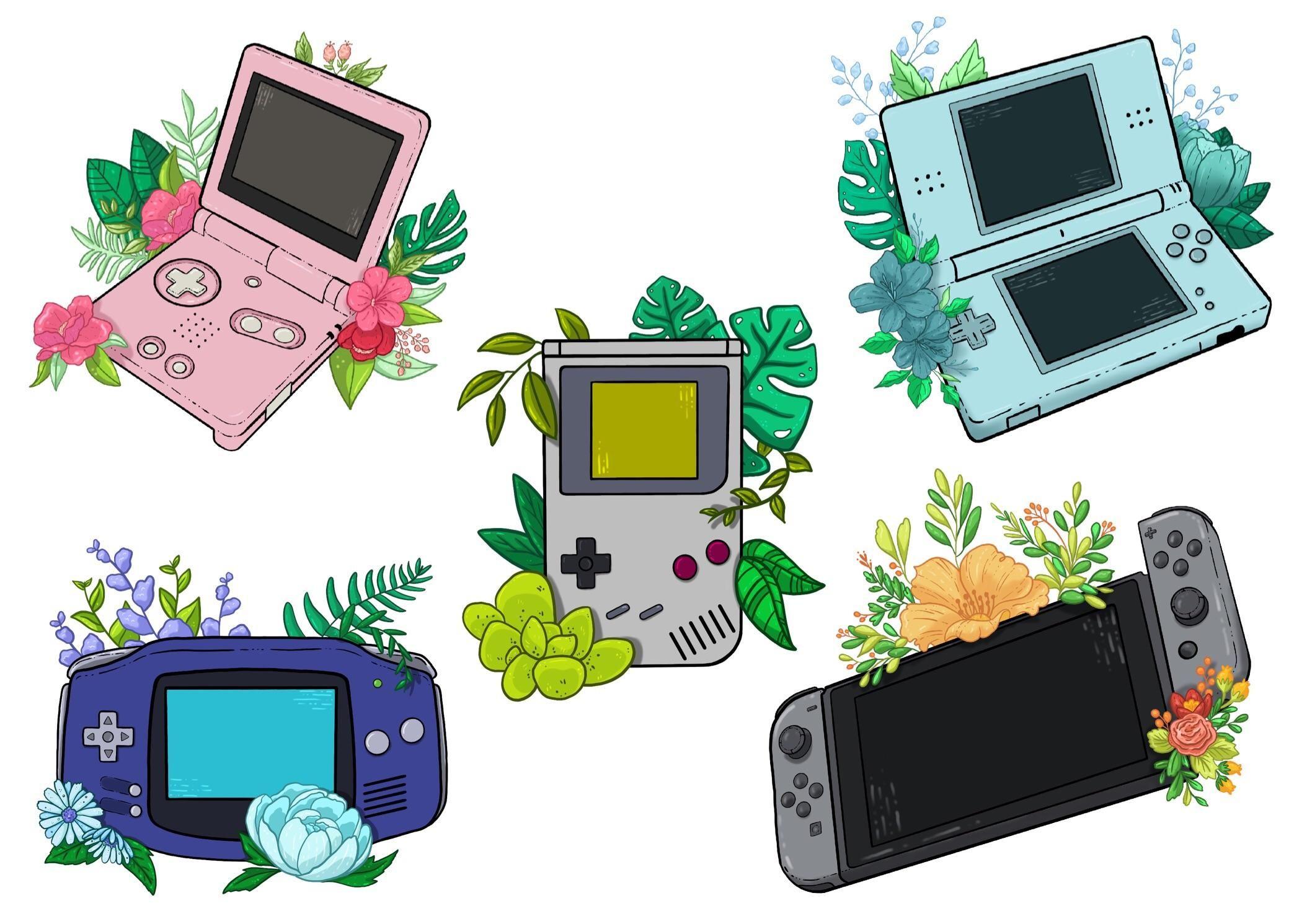 """ Retro evolution "" drawing Nintendo, Gameboy advance"
