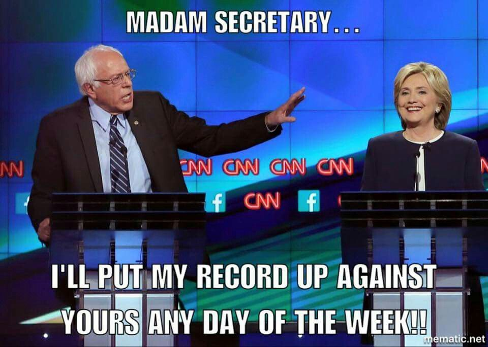 My Record Up Against Yours Bernie Sanders For President You Lied Talk Show