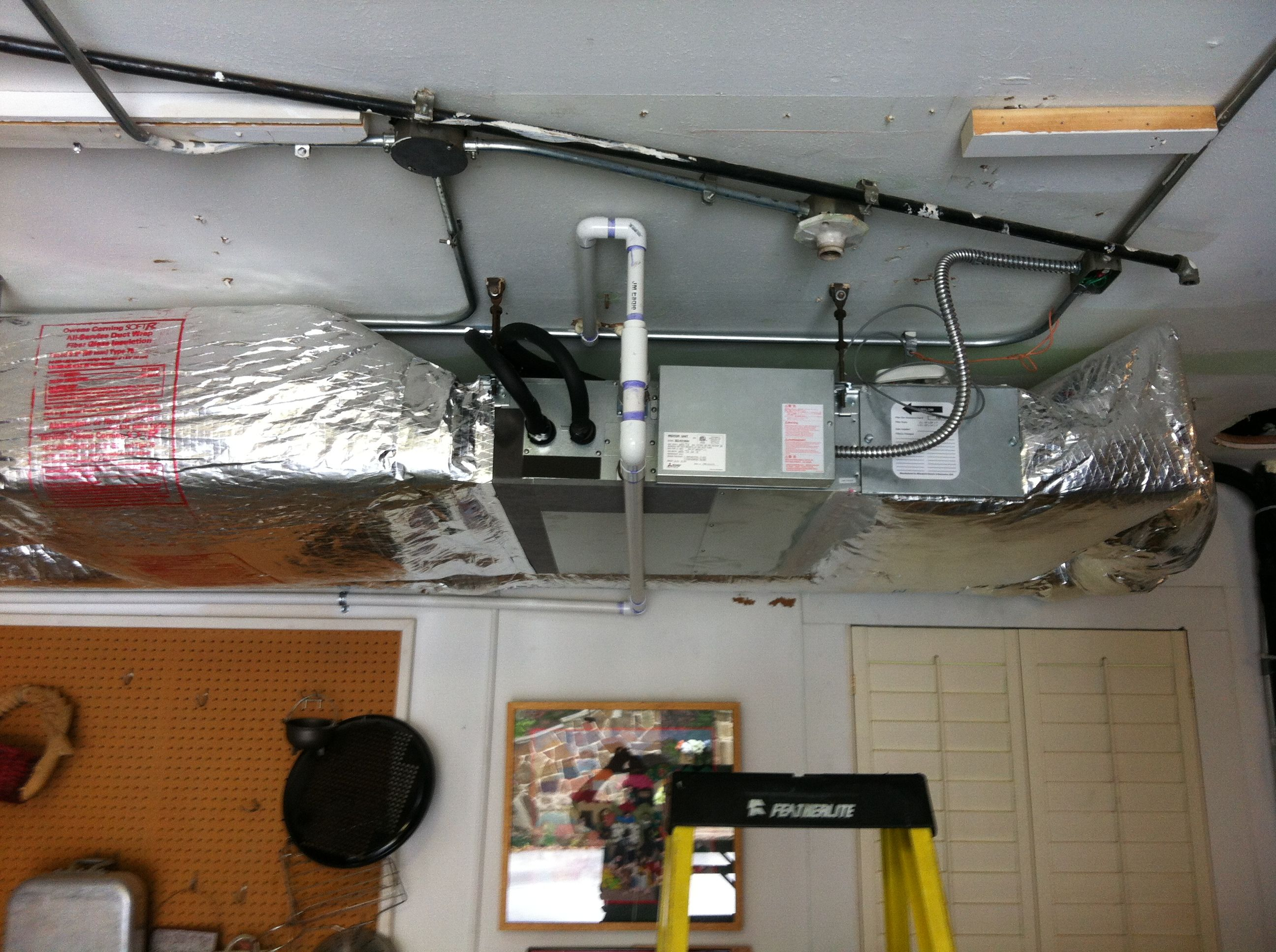 Mitsubishi Ducted Unit For Kitchen Heating And Air Conditioning