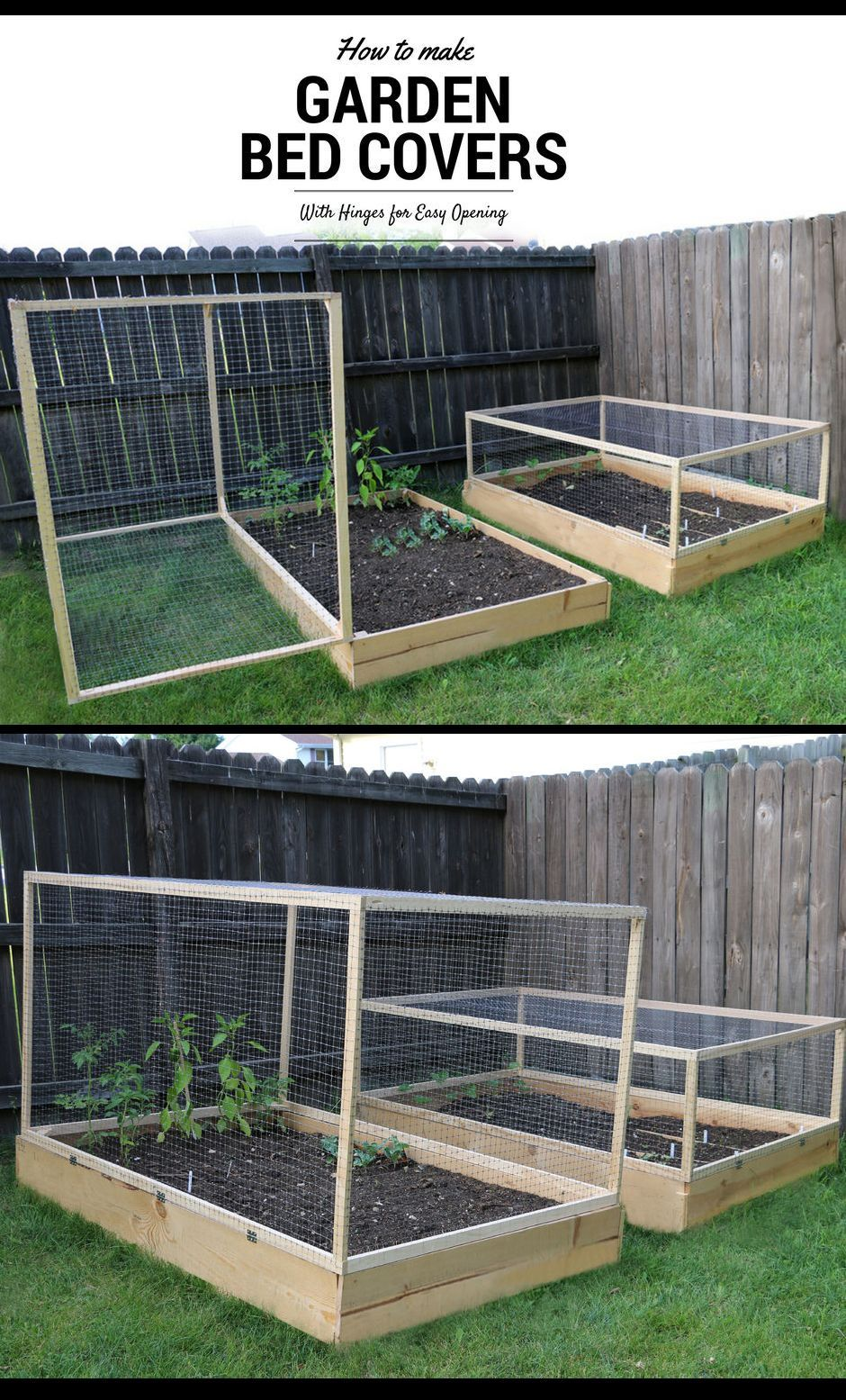 how to make a raised garden bed cover with hinges andere bastelarbeiten pinterest garten. Black Bedroom Furniture Sets. Home Design Ideas