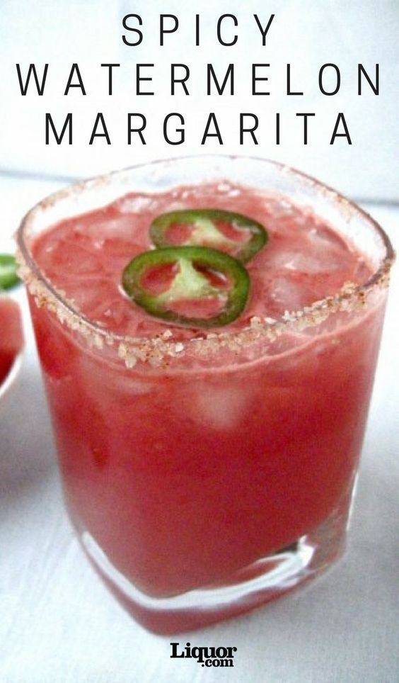 Spicy Watermelon Margarita #tequiladrinks