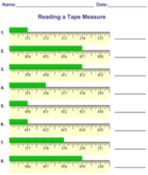 Printables Tape Measure Worksheets reading a tape measure on create it to get the measuring worksheets