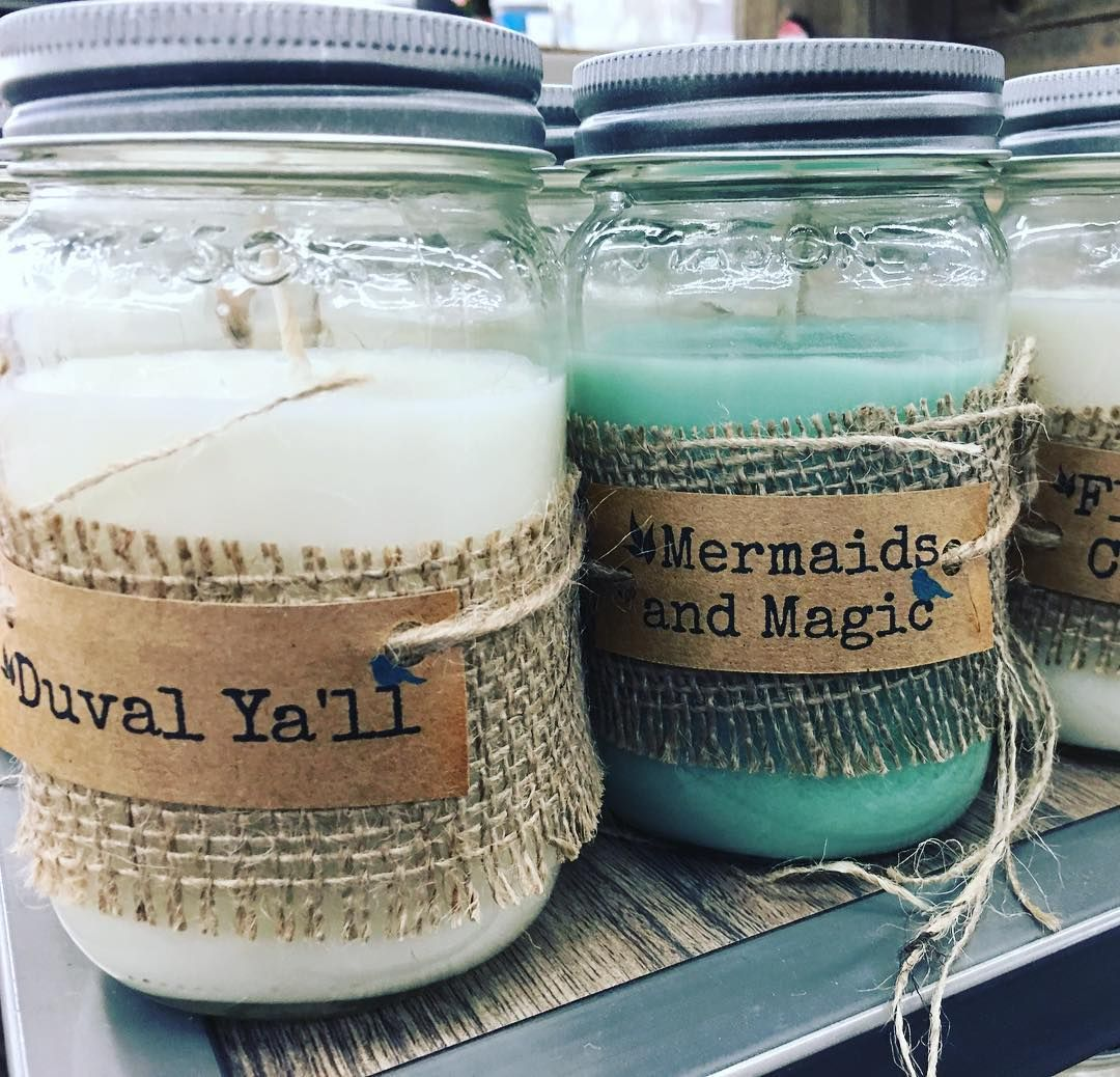 What do you love about the beach? Mermaids Florida sand/water and plenty of crisp air is amongst the many candle scents from local artisans at @andthatjacksonville! My favorite? 'Mermaids and Magic'  #beach #candles #decor #andthatjacksonville