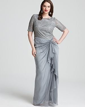 where to buy tadashi shoji plus-size cocktail and evening dresses