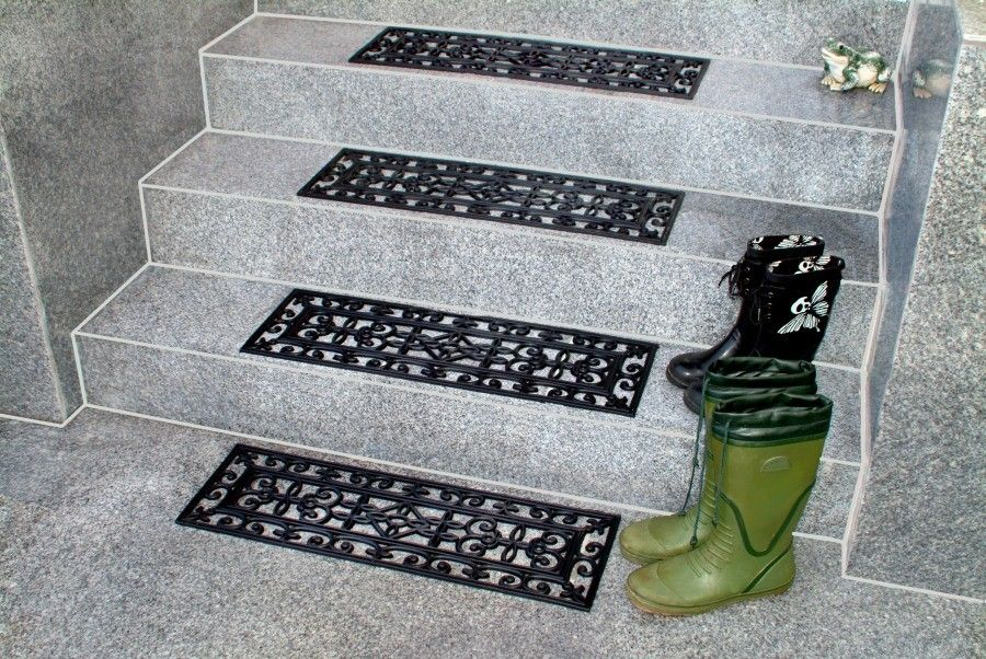 Best Decorative Outdoor Stair Treads Rubber Non Slip 400 x 300