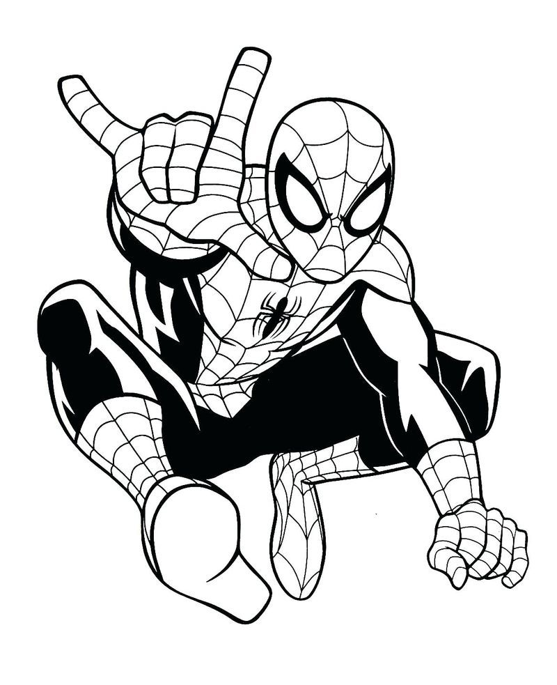 Spiderman Colouring Book Pages Gambar Warna Logo Keren