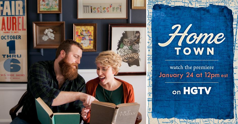 Watch The Pilot Of Home Town With Hosts Erin And Ben Napier On Hgtv This Sunday At 11 00 Am Cst Hgtv Hgtv Shows Laurel