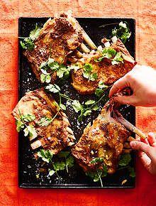 Photo of Kashmiri-style fried lamb ribs (tabak maaz)