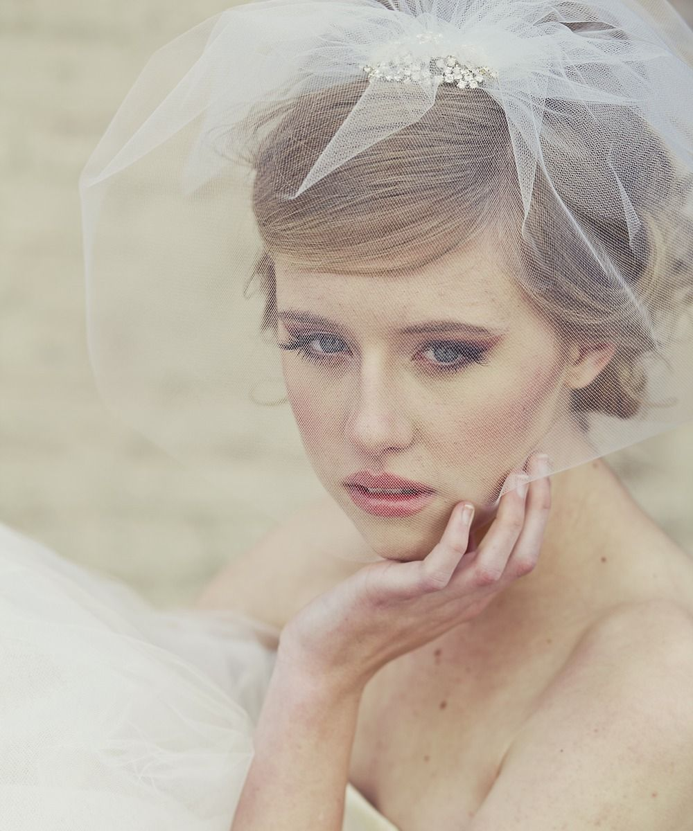 Handmade Short Blusher Veil with Rhinestone Comb #shoplately | Tying ...