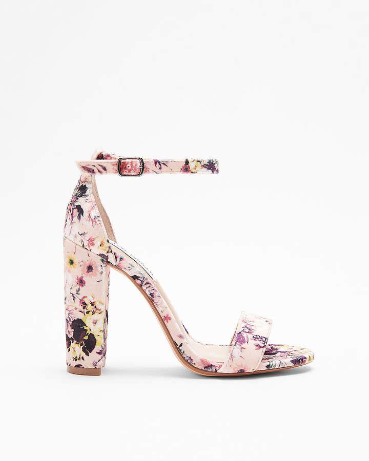 aab857051 Express Steve Madden Floral Carrson Heeled Sandals  affiliate ...