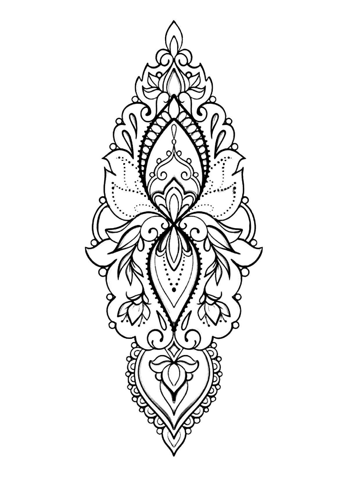 Wrist Cuff Lace Mandala Mehndi: Lace Tattoo Design, Henna